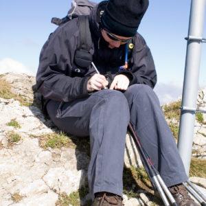 Eintrag in den Gipfel-Cache