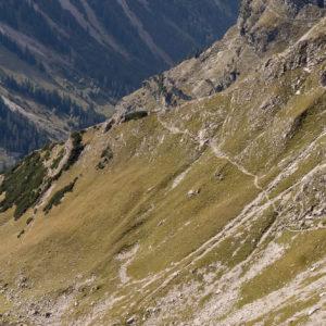 Ausblick auf den Abstieg